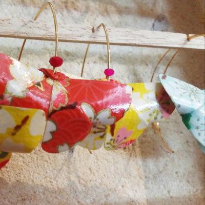 boucles d'oreilles origami Pic Pic & Origam