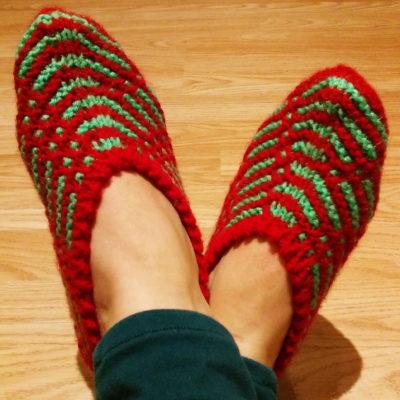 chaussons laine tricotés Créer C Vivre