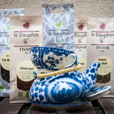 thés et tisanes bio solidaires Le Dauphin