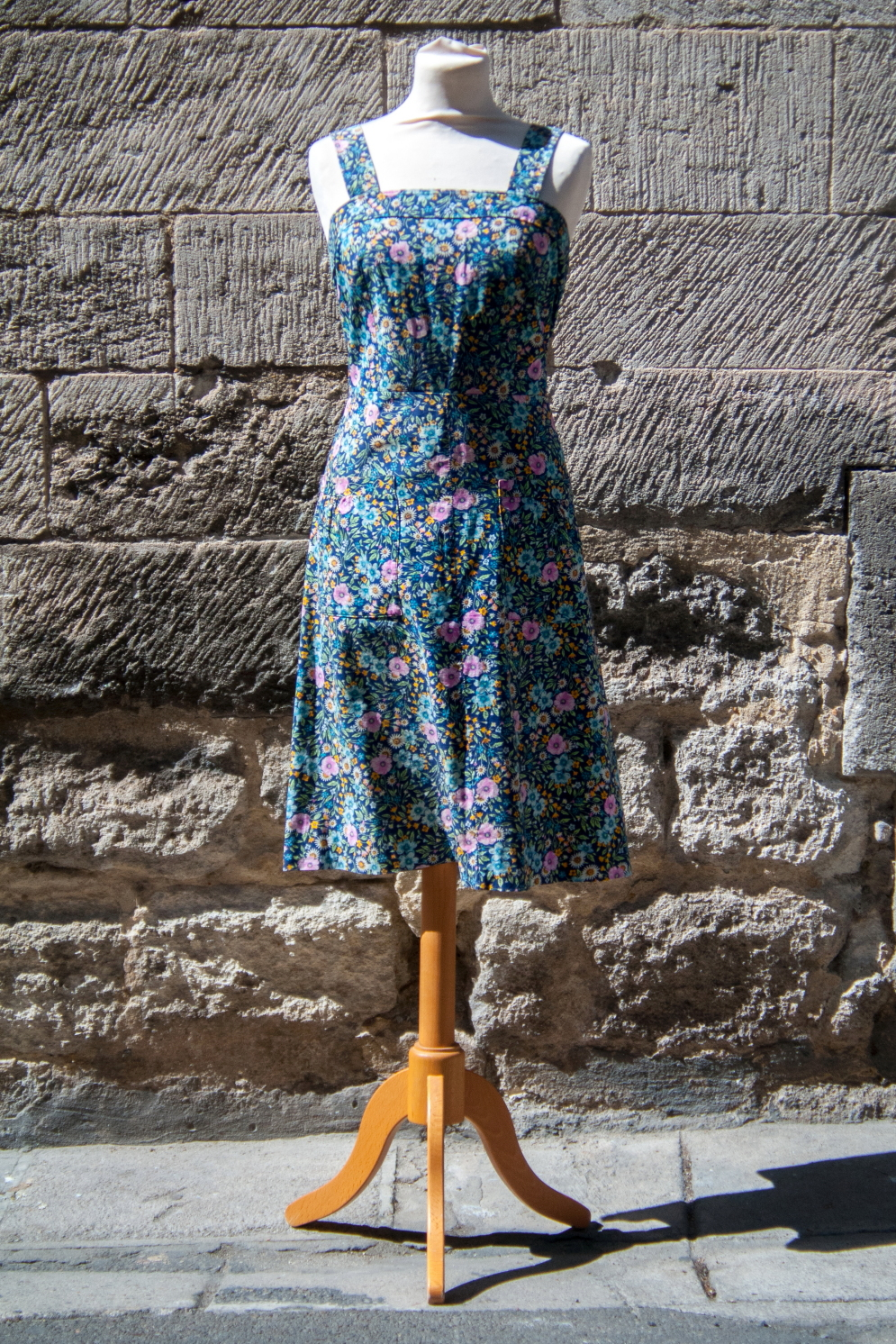 robe vintage bleue