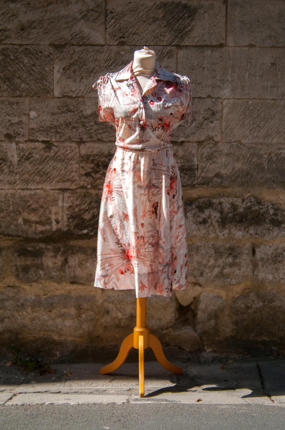 robe imprimé vintage orient
