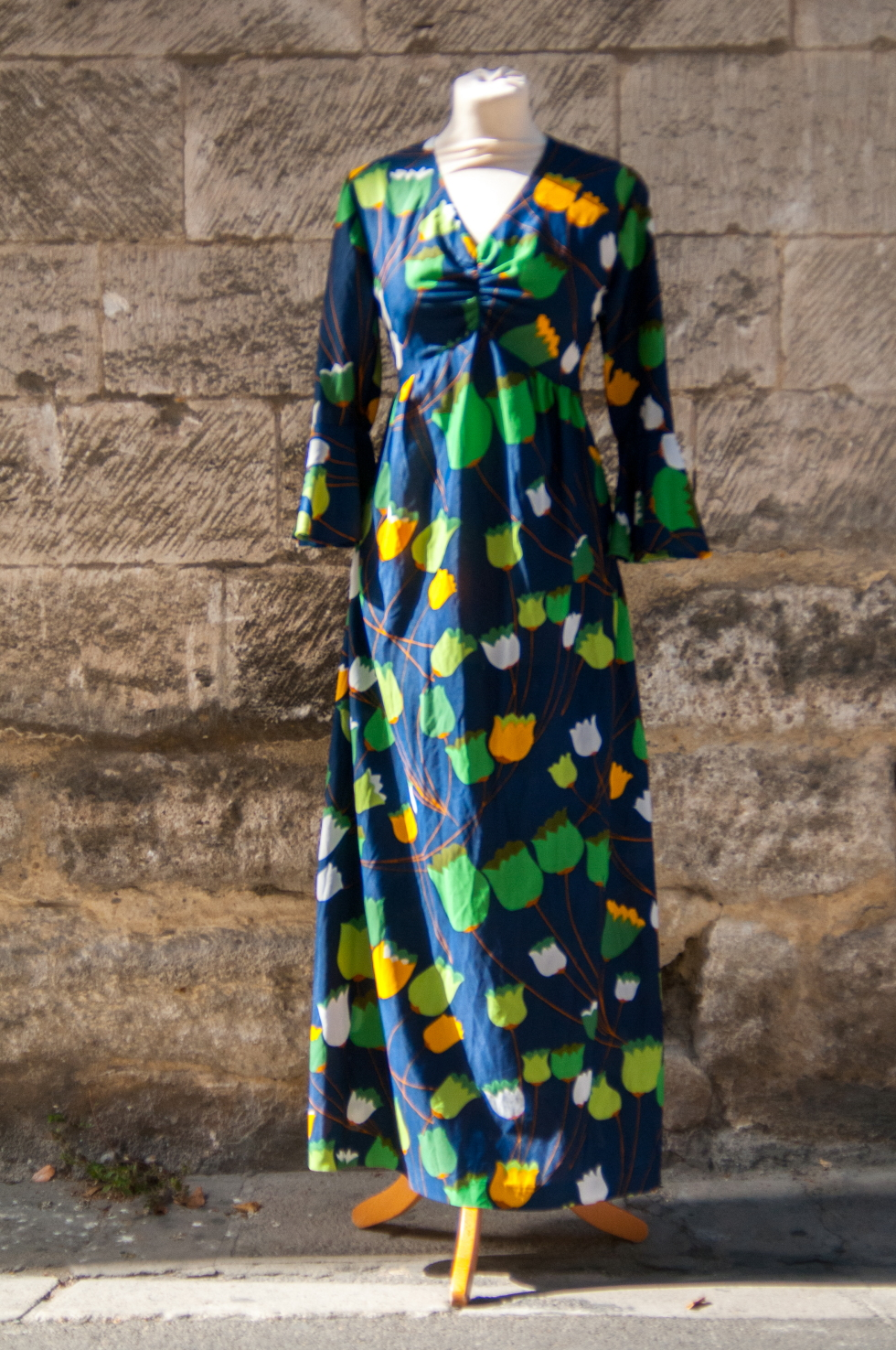 maxi-robe vintage tulipes